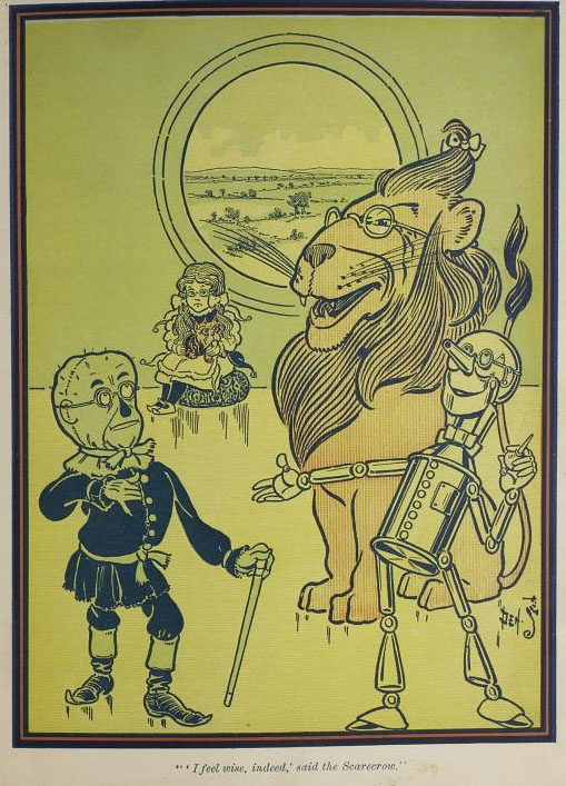 the wizord of oz symbolizing the In 1900, a 44-year-old l frank baum published the wonderful wizard of oz and  became the father of the american fairy tale the book was a.